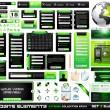 Web design elements extreme collection BlackGreen  — Imagen vectorial
