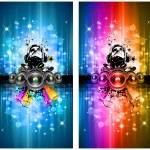 MAgic Lights Disco Flyer with DJ — Stock Vector #6718357