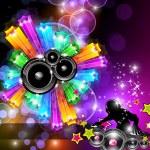 dans etkinlikleri için müzik disco el ilanı — Stok Vektör