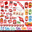 Sale Tags Mega Collection Set  — Stockvectorbeeld