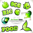 "Green"" themed Stickers Collection — Stock Vector #6718553"
