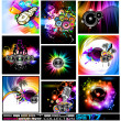 Discoteque Flyers Collection - Set 7 — Stock Vector