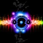 Futuristic Music Disco Background — Stock Vector