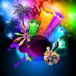 Royalty-Free Stock Vector Image: Disco Dance Tropical Music Flyer