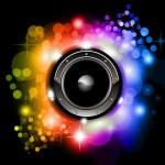 Futuristic Music Disco Background — Stock Vector #6718752