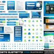 Web Elements EXTREME collection All Blue and Green — Vettoriali Stock