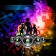 Royalty-Free Stock Vector Image: Girls Discoteque Event Flyer for Music Themed Flyers