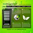 Stock Vector: GREEN eco themed website template