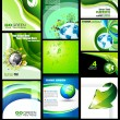 Go Green Eco Backgrounds Collection — Stock Vector