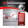 Vector de stock : Business WebSite Template