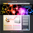 Colorful Abstract Template for Stylish web developing — Stock Vector