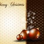 Christmas Baubles Background for Elegant Invitation Flyer — Stock Vector #6719656