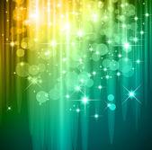 μαγικό καταρράκτη των φώτων για υποδηλώνουν φυλλάδια — Διανυσματικό Αρχείο