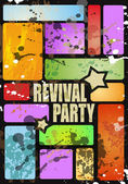 Retro' revival disco party flyer — Stock Vector