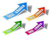 "Set of ""Best Choice"" arrow sticker — Stock Vector"