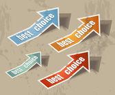 """Arrow """"best choice"""" retr — Stock Vector"""