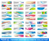 Header Banner extreme collection — Stock Vector