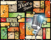 Retro' revival disco party flyer — Vetorial Stock