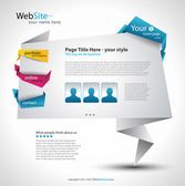 Origami Website Elegant Design — Stock Vector