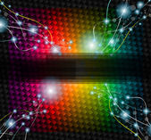 Abstract Rainbow Background with lightninngs — Stock Vector