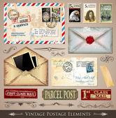 éléments de design vintage port — Vecteur