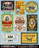 Vintage rótulos coleção-conjunto 18 — Vetorial Stock