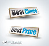 Best Choice Box Panel: — Stock Vector