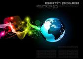 Concept Earth Planet Design Background — Stock Vector