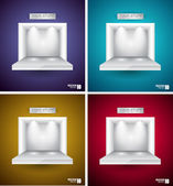 Box for Your Product with LED spotlights — Stock Vector