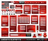Web design element extrema samling 2 blackred inferno — Stockvektor