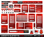 Inferno di web design elementi collezione estrema 2 blackred — Vettoriale Stock
