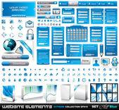 Collection extrême de web elements 2 tout bleu — Vecteur