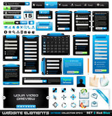Web design éléments extrêmes collection 2 blackblue — Vecteur