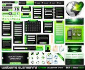 Web design elements extreme collection BlackGreen — Stock Vector