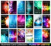 Colección de tarjetas de visita: — Vector de stock