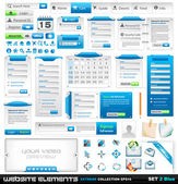 Colección extrema de elementos de diseño de web 2 — Vector de stock