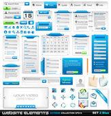 Collezione estrema web design elementi 2 — Vettoriale Stock