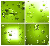 Liquid Drops Background with Strong Colour Contrast — Stock Vector