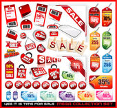 Sale Tags Mega Collection Set — Vetorial Stock