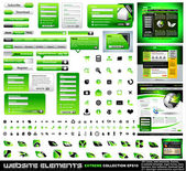 Collection extrême vert web design elements — Vecteur