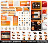 Collezione di elementi web design estremo — Vettoriale Stock