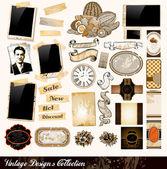 Coleção de elementos vintage — Vetorial Stock