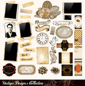 Vintage Elements Collection — Vetorial Stock