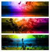 Rainbow Backgrounds Set — Stock Vector