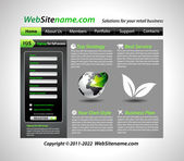 GREEN eco themed website template — Stock Vector
