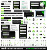 Web design elementen extreme collectie — Stockvector
