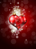 Red and Gold Heart Background for Valentine's flyer — Stockvector