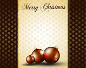 Christmas Baubles Background for Elegant Invitation Flyer — Stock Vector