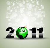 Ekologie zelených tématikou pozdravy zázemí pro nový rok plakáty — Stock vektor
