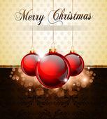 ビンテージ クリスマスつまらないものの背景 — ストックベクタ